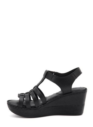 Dolgu Topuk Sandalet Ayakkabı-Beta